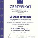 Certyfikat Lider Rynku