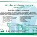 Lifa Air certyfikat